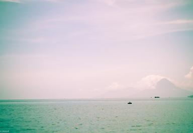 Lake Nicaragua With Ometepe Island